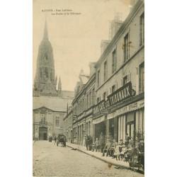 14 BAYEUX. Café des Tribunaux. la Poste et le Tribunal rue Laitière 1914