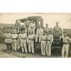 MILITARIA. 63 Les Chauffeurs du 353° à La Fontaine du Berger. Photo carte postale 1929