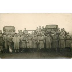 MILITARIA. Régiment du du 53 et 353° Régiments avec Jeep et Camions militaires