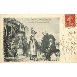 03 BOURBON-L'ARCHAMBAULT. Costumes Bourbonnais vers 1830
