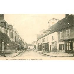 63 PIONSAT. Café sur la Grande Rue 1910