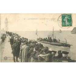 76 LE TREPORT. Entrée d'un Torpilleur 1912