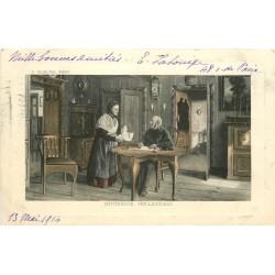 PAYS-BAS. Intérieur Hollandais par Spielter Pinxt 1914