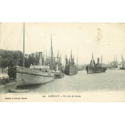 56 LORIENT. Bateaux de Pêche dans un coin du Bassin 1921