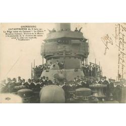 TRANSPORTS MILITARIA. Le Cuirassé La Gloire à Cherbourg 1919