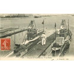 """MILITARIA. Un poste de sous-marins """" La Pallice """" 1909 à Rochefort"""