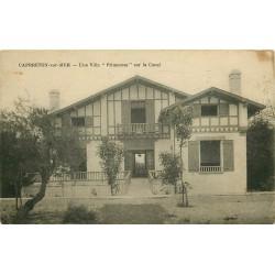 2 Cpa 40 CAPBRETON-SUR-MER. Villa Primerose sur Canal et Sanatorium