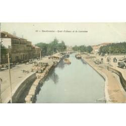 11 NARBONNE. Quai Alsace Lorraine. En couleurs 1906