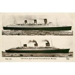 TRANSPORTS. Deux plus grands Paquebots du Monde Queen Mary et Normandy