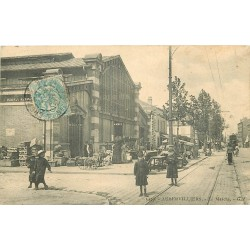 93 AUBERVILLIERS. Le Marché couvert 1906