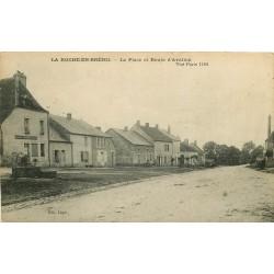 21 LA ROCHE-EN-BRENIL. Boucherie Place de la Danse route d'Avallon 1922