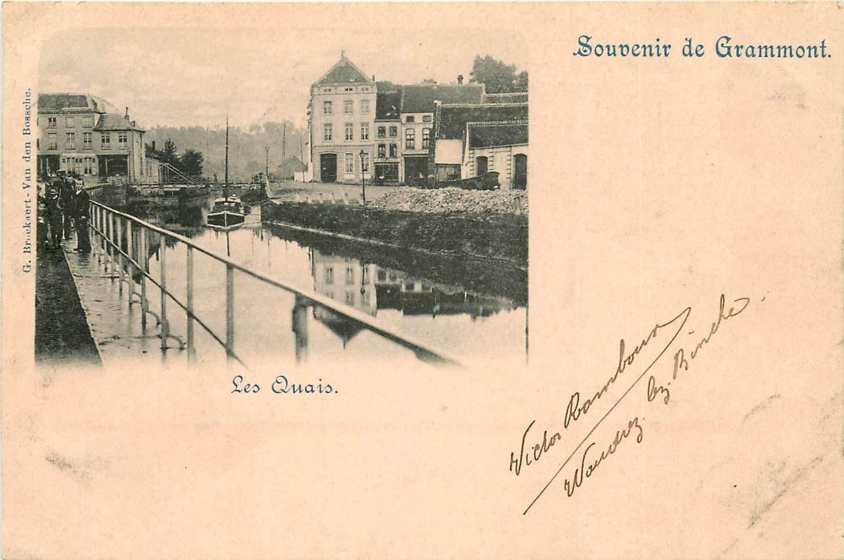 BELGIQUE. Les Quais à Grammont 1902