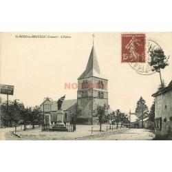 2 Cpa 23 SAINT-MERD-LA-BREUILLE. Eglise et la Place 1930 & 1937
