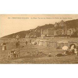 carte postale ancienne 14 TROUVILLE. Châlets et Pointe des Roches Noires