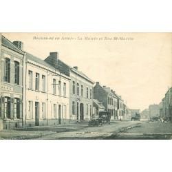 62 BEAUMONT EN ARTOIS. Les Livreurs de pain en voiture rue Saint-Martin