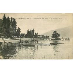 73 AIX-LES-BAINS. Le Grand Port avec les Bains et la Nouvelle Route 1930