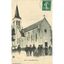 03 BILLEZOIS. Animation du dimanche devant l'Eglise 1911