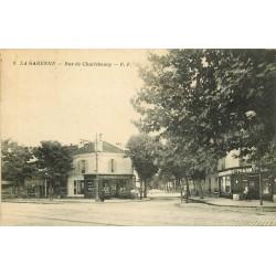 92 LA GARENNE COLOMBES. Pharmacie et Café rue de Charlebourg
