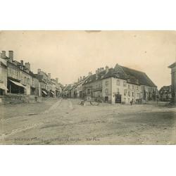 03 SOUVIGNY. Tabac et Boucherie Place du Marché 1912