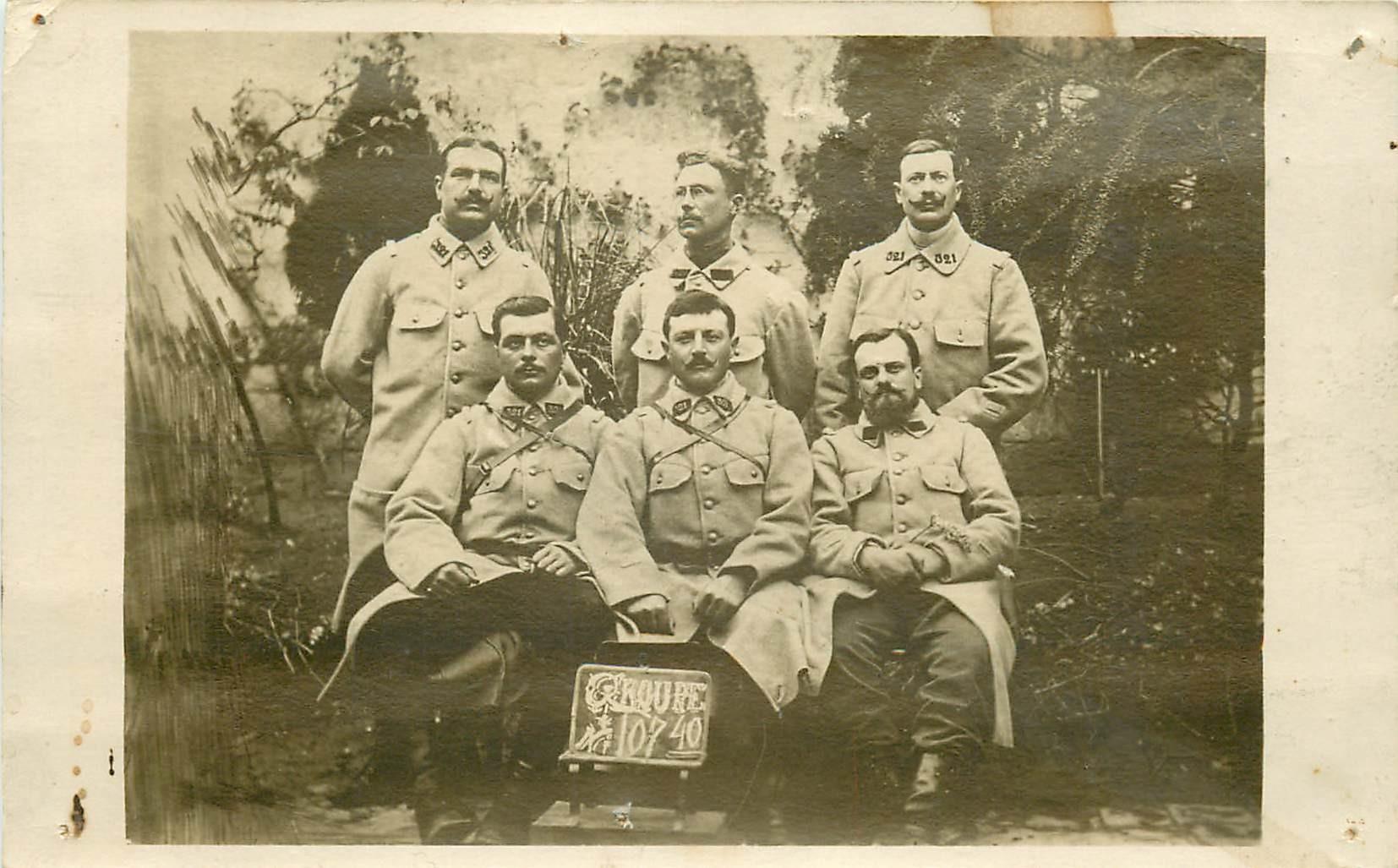 Superbe et rare Photo carte postale de Poilus du 321 Régiment d'Artillerie