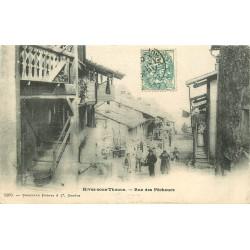 74 RIVES-SOUS-THONON. Animation rue des Pêcheurs vers 1903