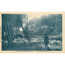 40 CASTETS-DES-LANDES. Berger et son Troupeau de Moutons 1930