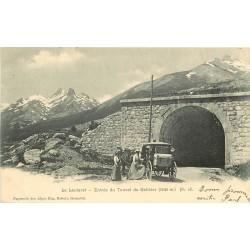 05 LE LAUTARET. Attelage à l'Entrée du Tunnel du Galibier 1903