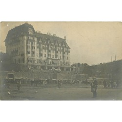 50 GRANVILLE. Photo carte postale la Plage devant le Normandy Hôtel