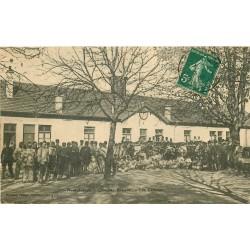 88 NEUFCHATEAU. Quartier Rebeval les Cantines de la Caserne. Carte rare 1909