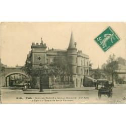 75 PARIS XII° La ligne du Chemin de Fer de Vincennes du Boulevard Diderot à l'Avenue Daumesnil