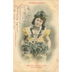 """Langage des Fleurs """" MYOSOTIS """" ne m'oubliez pas !... par Bergeret"""