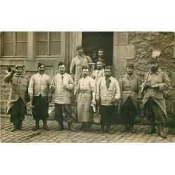 MILITARIA. Rare Photo Cpa des Poilus Militaires Cuistots du 89° Régiment à la Caserne