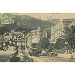 MONACO. La Condamine et l'Avenue de la Costa à Monte-Carlo vers 1905