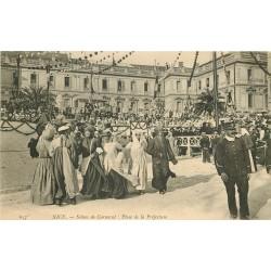 06 NICE. Scènes de Carnaval Place de la Préfecture 1905
