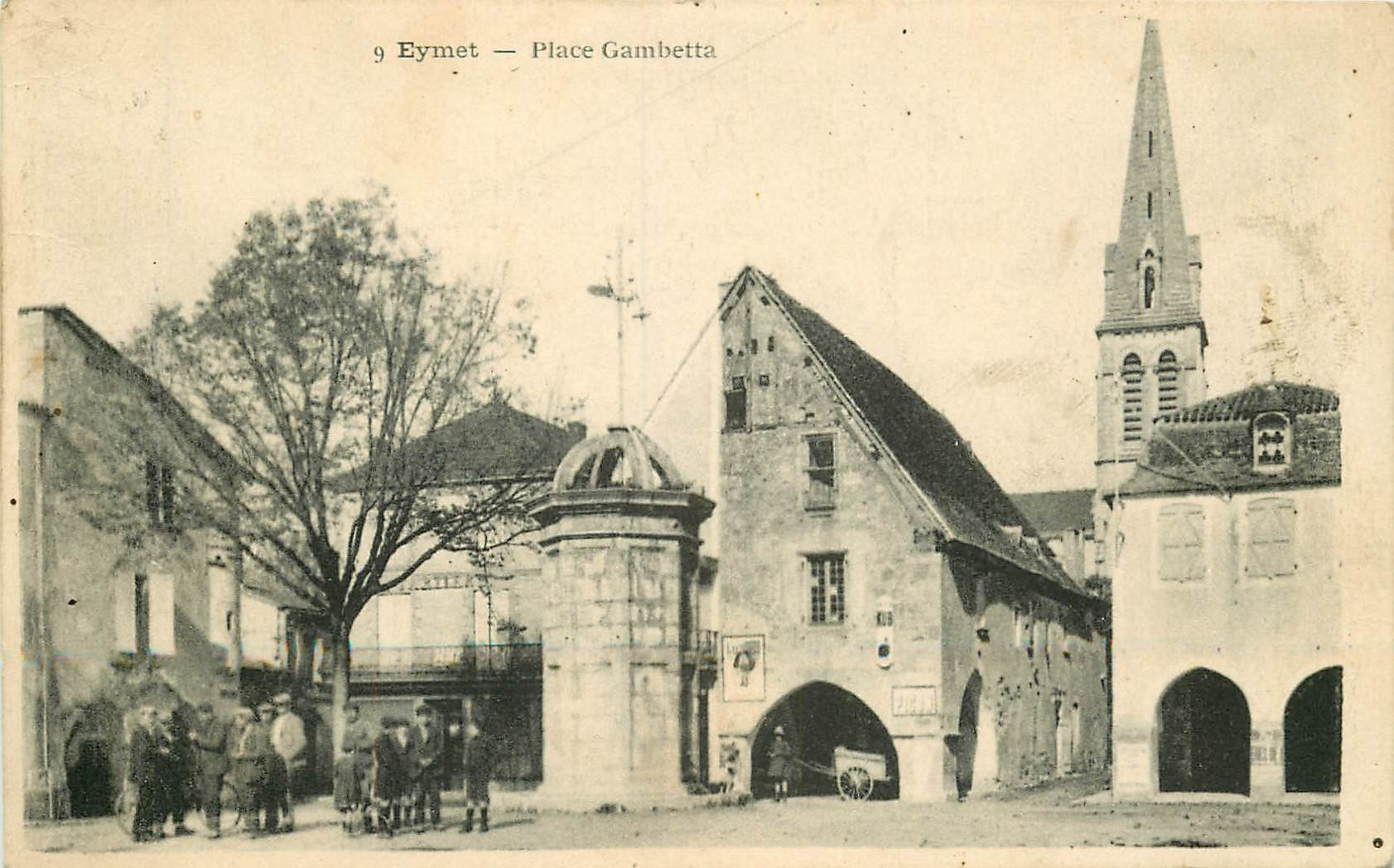 24 EYMET. Animation Place Gambetta 1926