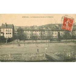 15 AURILLAC. Promenade du Gravier et Préfecture 1912
