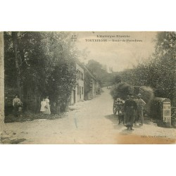 63 TORTEBESSE. Attelage Âne Route de Prondines
