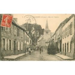 23 LA COURTINE. Militaires rue de l'Eglise 1909