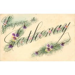 69 SATHONAY. Une Pensée avec fleurs peintes à la main 1923