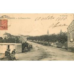 71 TOURNUS. Le Champ de Foire avec animation 1906