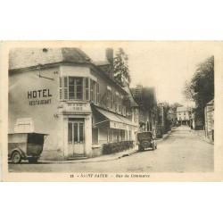 18 SAINT-SATUR. Hôtel Restaurant et Boucherie de la Marine rue du Commerce