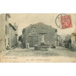83 NANS. Jeune femme à la Fontaine du Perron 1907