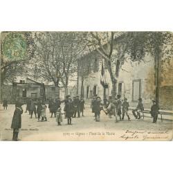 13 GIGNAC. Jeux d'Enfants Place de la Mairie 1907