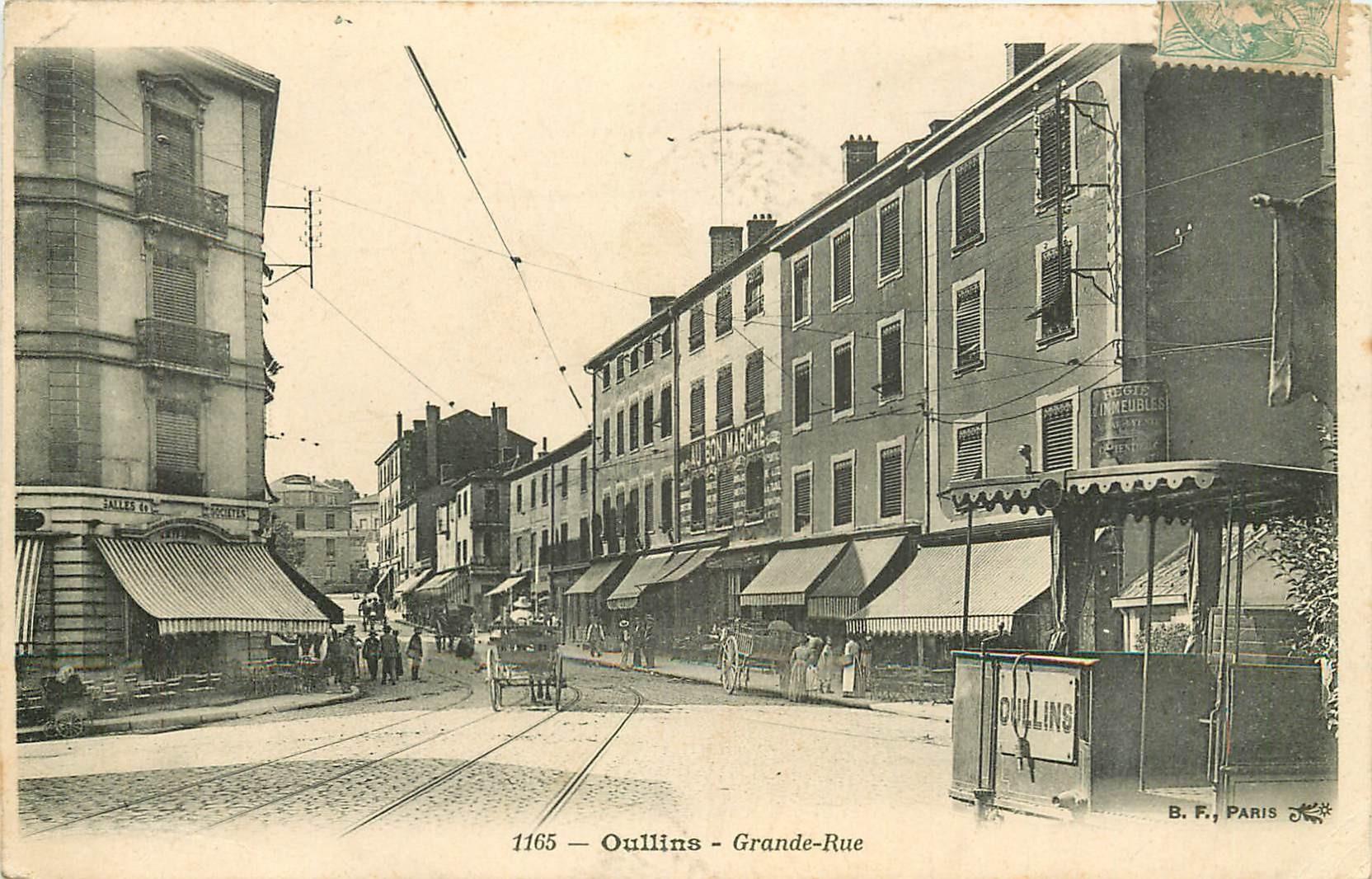 69 OULLINS. Au Bon Marché sur Grande-Rue 1906