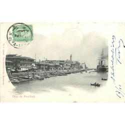 EGYPTE. Quai de Port Said 1905