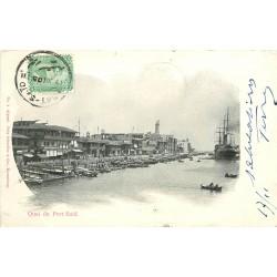 EGYPTE. Quai de Port Said 1905