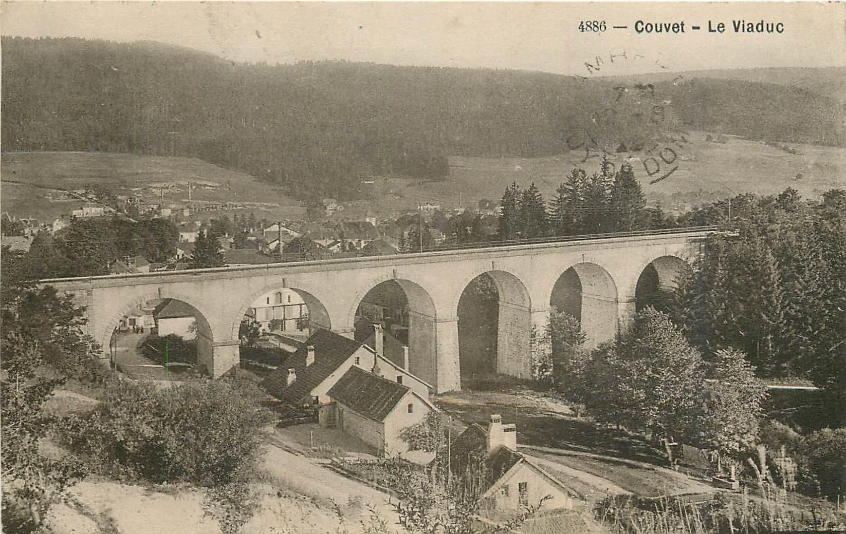 COUVET. Le Viaduc en Suisse 1920
