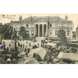 87 LIMOGES. Le Tribunal et le Marché Place d'Aisne 1915