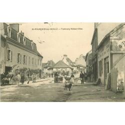 03 SAINT-POURCAIN-SUR-SIOULE. Hôtel Villate et commerce Lamy Faubourg Maison-Dieu 1907