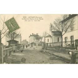 43 ARVANT. Rue de l'Eglise et de l'Ecole 1918